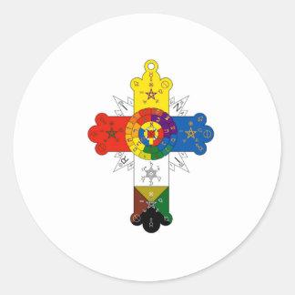Rosy Cross Lamen Round Sticker