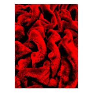 Rosy Fabric Postcard