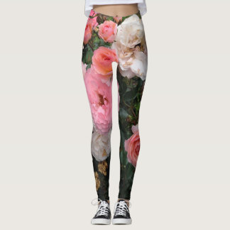Rosy Floral Leggings