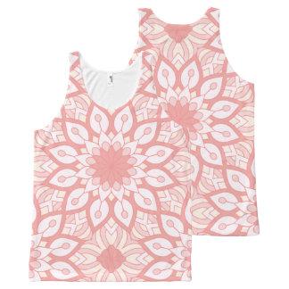 Rosy floral mandala geometric pattern