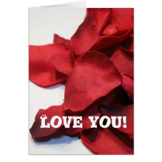Rosy Petals Card