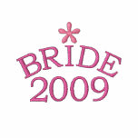 Rosy Pink Bride 2009 Customizable Embroidered Hoodies