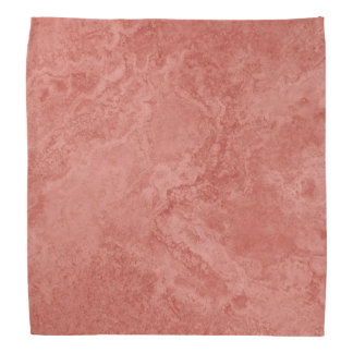 Rosy pink marble structure pattern bandana