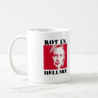 ROT IN HELLARY - Anti-Hillary Red Alert - - Anti-H Coffee Mug
