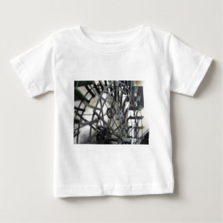 Rotary motion of the water wheel in a watermill baby T-Shirt