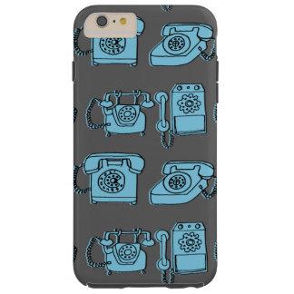 Rotary Phone - Charcoal/Soft Blue / Andrea Lauren Tough iPhone 6 Plus Case