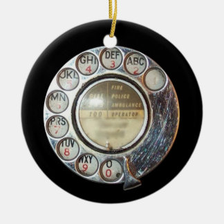 ROTARY PHONE DIAL ornament