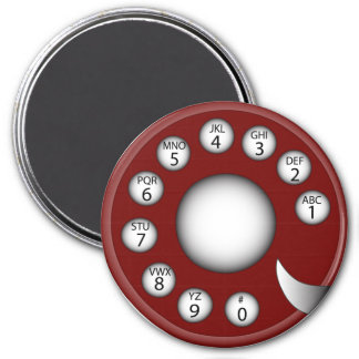 Rotary Phone Dial (Red) Magnet