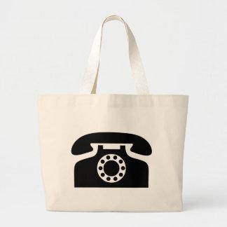 Rotary Phone Large Tote Bag