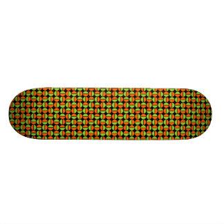 Rotating Circles - Green and Orange on Black Skate Decks