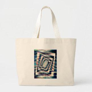 Rotating Grunge Rectangle Large Tote Bag
