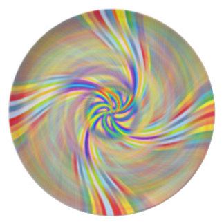 Rotating Rainbow Plate