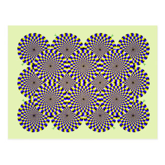 Rotating snakes optical illusion postcard