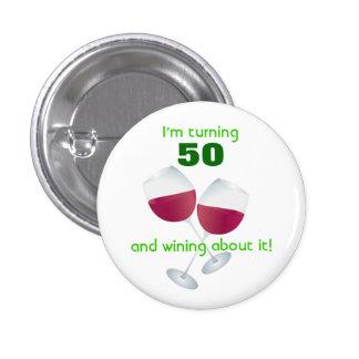 Rotation de 50 avec le bouton en verre de vin macaron rond 2,50 cm