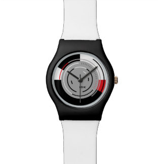 ROTATIONS   black white and red minimalist circles Watches