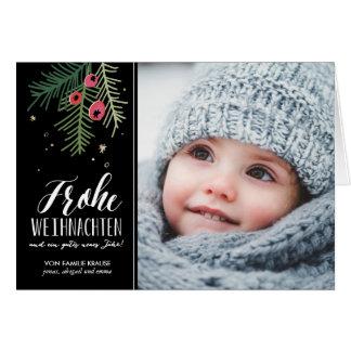 Rote Beeren | Frohe Weihnachten Card