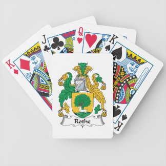 Rothe Family Crest Bicycle Playing Cards