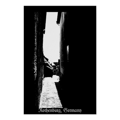 Rothenburg Alley Poster