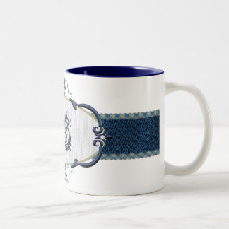 Rothenburg Blue Monogram-Letter S Two-Tone Coffee Mug