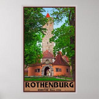 Rothenburg Castle Gate Poster