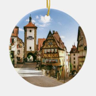 ROTHENBURG, GERMANY ROUND CERAMIC ORNAMENT