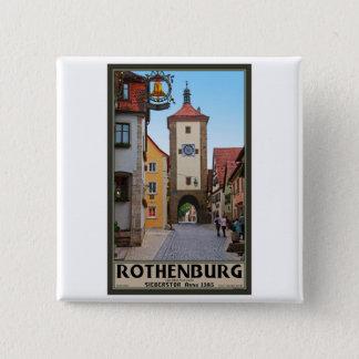 Rothenburg od Tauber - Sieberstor 2 Inch Square Button