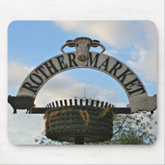 Rother Market sign, Stratford, England Mouse Pad