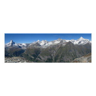Rothorn panorama, Valais Alps Poster
