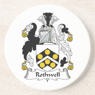 Rothwell Family Crest Coaster