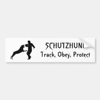 rott, Track, Obey, Protect, SCHUTZHUND Bumper Sticker