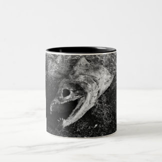 Rotten Fish Head Bones Two-Tone Coffee Mug