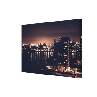 Rotterdam at night Landscape Single Canvas