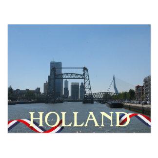 Rotterdam Bridges Holland Postcard