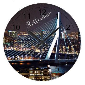 Rotterdam Cityscape Large Clock
