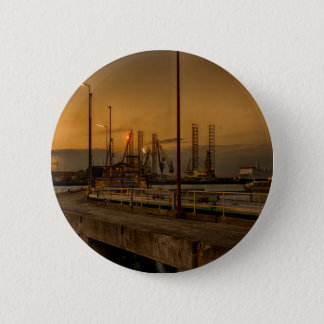 Rotterdam harbor by night 2 inch round button