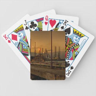 Rotterdam harbor by night bicycle playing cards