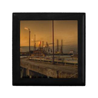 Rotterdam harbor by night gift box