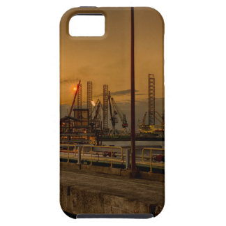 Rotterdam harbor by night iPhone 5 cases