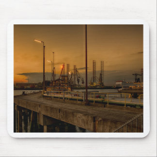 Rotterdam harbor by night mouse pad