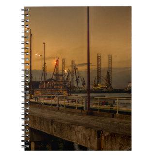 Rotterdam harbor by night notebook