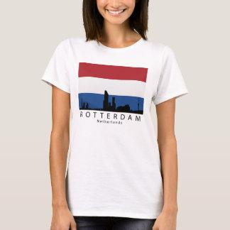 Rotterdam Netherlands Skyline Dutch Flag T-Shirt