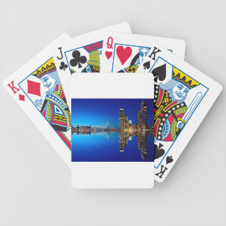 Rotterdam Night Skyline Bicycle Playing Cards