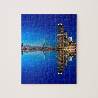 Rotterdam Night Skyline Jigsaw Puzzle