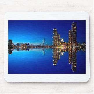 Rotterdam Night Skyline Mouse Pad