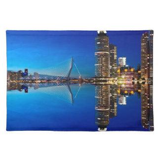 Rotterdam Night Skyline Placemat