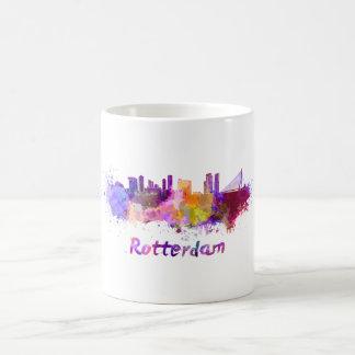 Rotterdam skyline in watercolor coffee mug