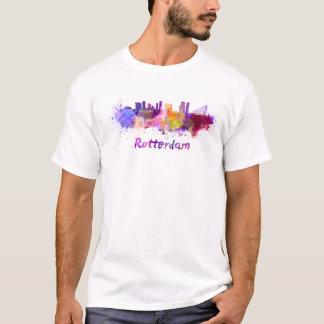 Rotterdam skyline in watercolor T-Shirt