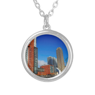 Rotterdam Skyline Silver Plated Necklace