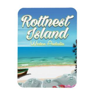 Rottnest Island Australia ocean travel poster Magnet