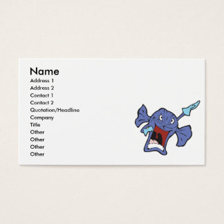 rotton candy character business card